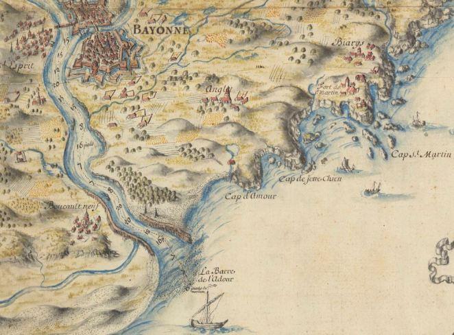 1670 -1677 Carte ensemble_topographique_des_costes_maritimes_[...]Clerville_Louis-Nicolas b